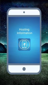 Hosting info apk screenshot