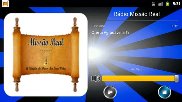 RADIO MISSÃO REAL screenshot 2
