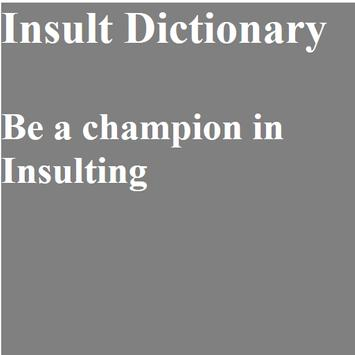 Ultimate Insulter poster