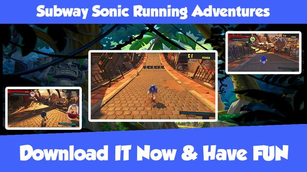 Subway Sonic Running Adventures poster