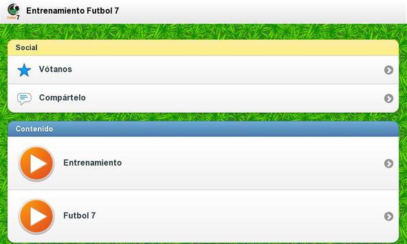 Entrenamiento Futbol 7 apk screenshot