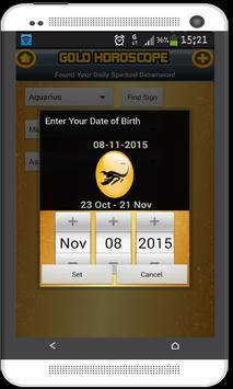 Gold Horoscope Zodiac Signs screenshot 2