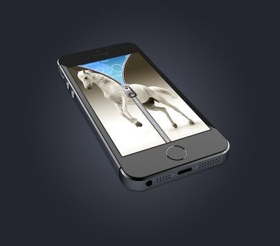 Horse Zipper screen wallpaper apk screenshot