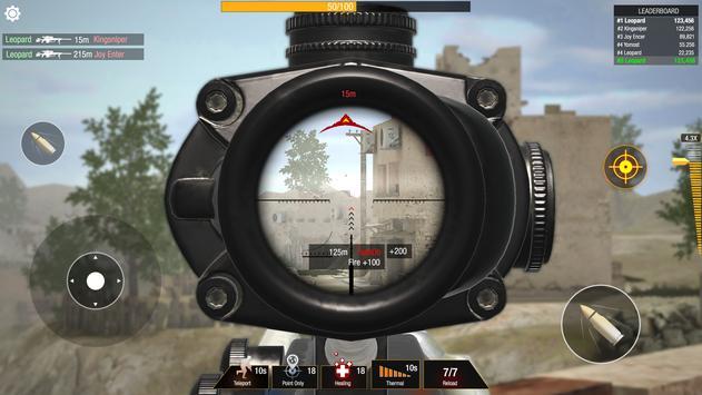 子弹撞击:狙击手游戏-免费玩家对战玩家射击游戏 截图 12