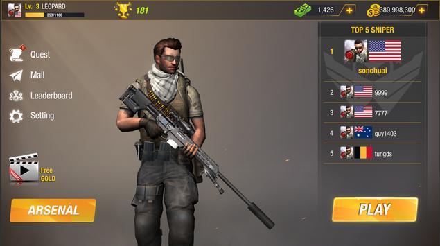 子弹撞击:狙击手游戏-免费玩家对战玩家射击游戏 截图 14
