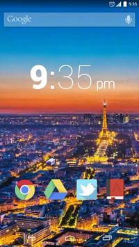 Paris Night Live Wallpaper screenshot 1