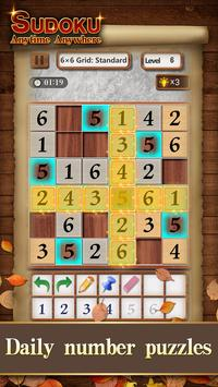 Sudoku Wood: Daily Number Puzzles for Brain poster