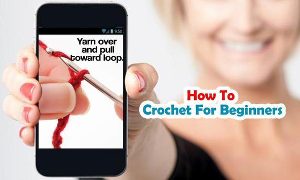 How to crochet for beginners poster