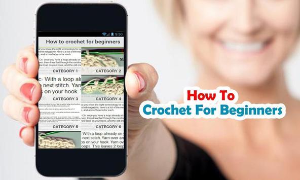 How to crochet for beginners apk screenshot
