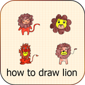 Learn How To Draw lion icon