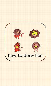 Learn How To Draw lion poster
