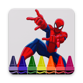 How to draw Spiderman characters icon