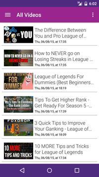 Strat Vids for League Legends apk screenshot