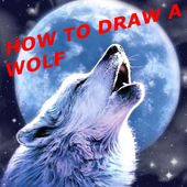 HOW TO DRAW A WOLF icon