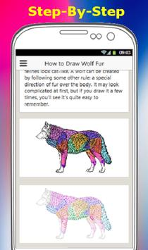HOW TO DRAW A WOLF screenshot 2