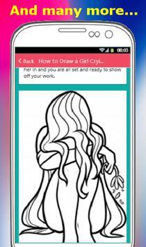 HOW TO DRAW A GIRL apk screenshot