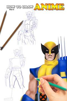 Draw Wolverine Lesson poster