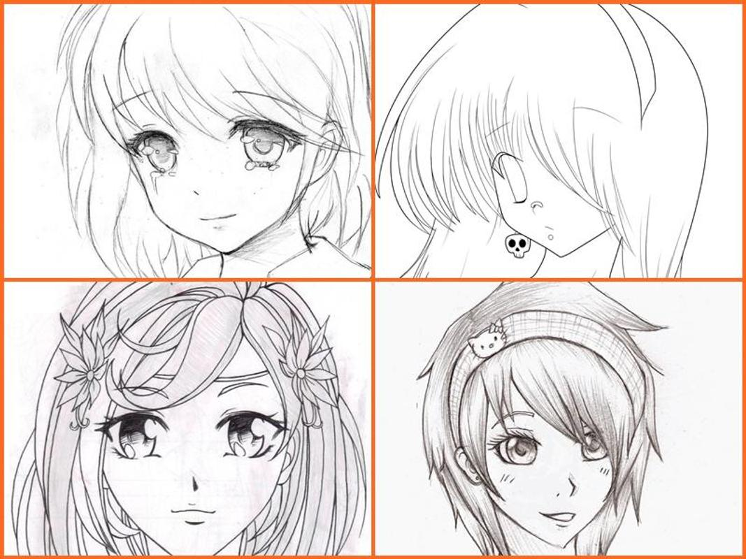 Line Art Apk : How to draw anime girls apk download free lifestyle app