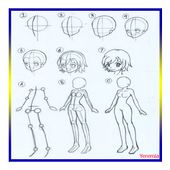 how to draw anime people icon