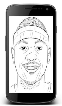 How To Draw Basketball Stars apk screenshot