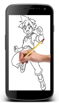 How To Draw Beyblade Characters screenshot 2