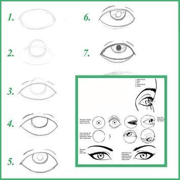 How to Draw Eyes apk screenshot
