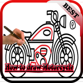 How to Draw Motorcycle icon