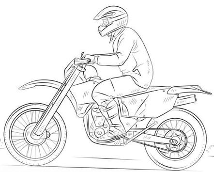 How to Draw Motorcycle poster