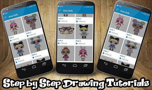 How To Draw Lol Surprise Dolls apk screenshot