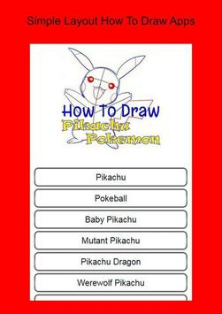 How To Draw Pikachu Pokemon poster