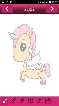 How to draw Cute Unicorns screenshot 7