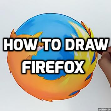 How to Draw a Firefox poster