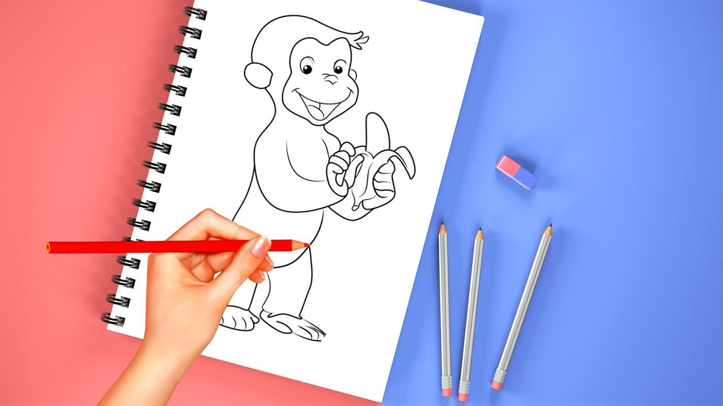 How to Draw Curious George Descarga APK - Gratis Casual Juego para ...