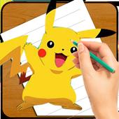 How to Draw Pokemon Go icon