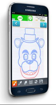 How to draw Freddy FNAF poster