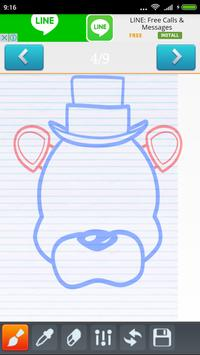 How to draw Freddy FNAF apk screenshot