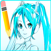 How To Draw Anime characters step by step icon
