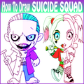 How To Draw Suicide Squad characters