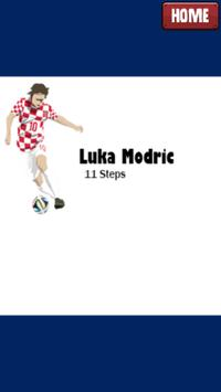 How to sketch and draw Luka Modric poster