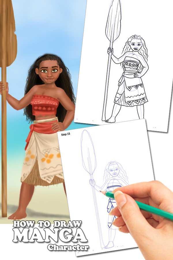 Draw Moana Tips poster
