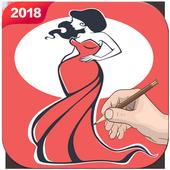 Draw Dress Design - Fashion Drawing icon