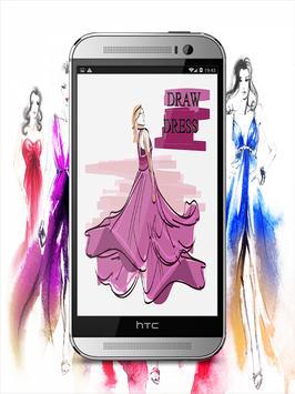 Draw Dress Design - Fashion Drawing poster