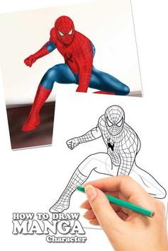 Draw Amazing Spiderman Lessons poster