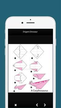 How to Make Origami Dinosaur apk screenshot