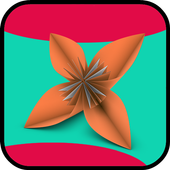 how to make origami flowers step by step icon