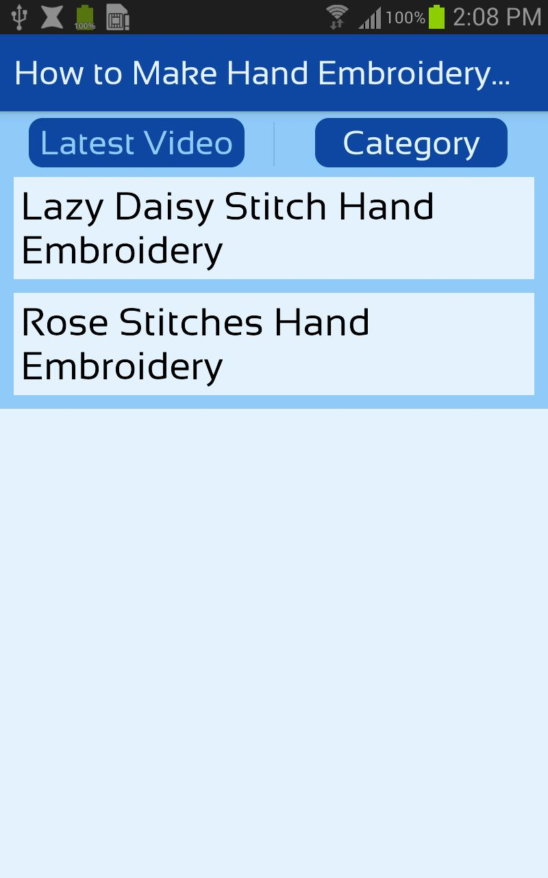 How to Make Hand Embroidery Stitches Videos for Android