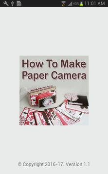 How To Make Paper Camera Video poster