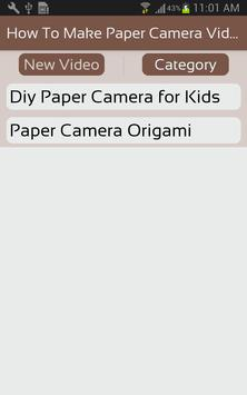 How To Make Paper Camera Video screenshot 1