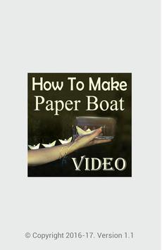 How To Make Paper Boat Video poster