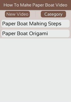 How To Make Paper Boat Video screenshot 1